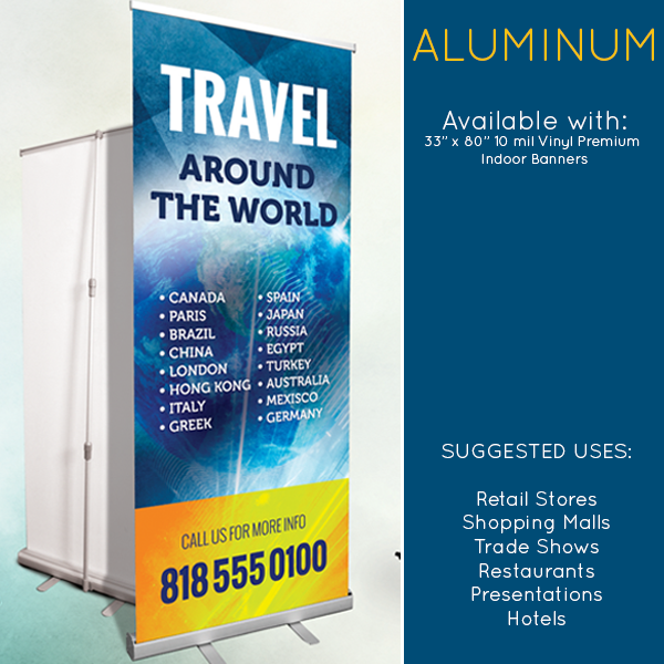 Banner Stands Available - Vinyl banners stands