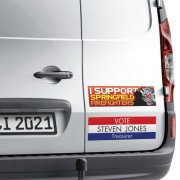 Perfect for outdoor use, our  Bumper Stickers adhere easily to bumpers and have the strength to withstand a variety of environmental conditions. Great for use on car bumpers, motorcycles, suitcases, bicycles and so much more.